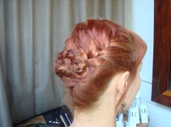 trendy hair-braid updo by stylist Sheenon of Nine Zero One Salon