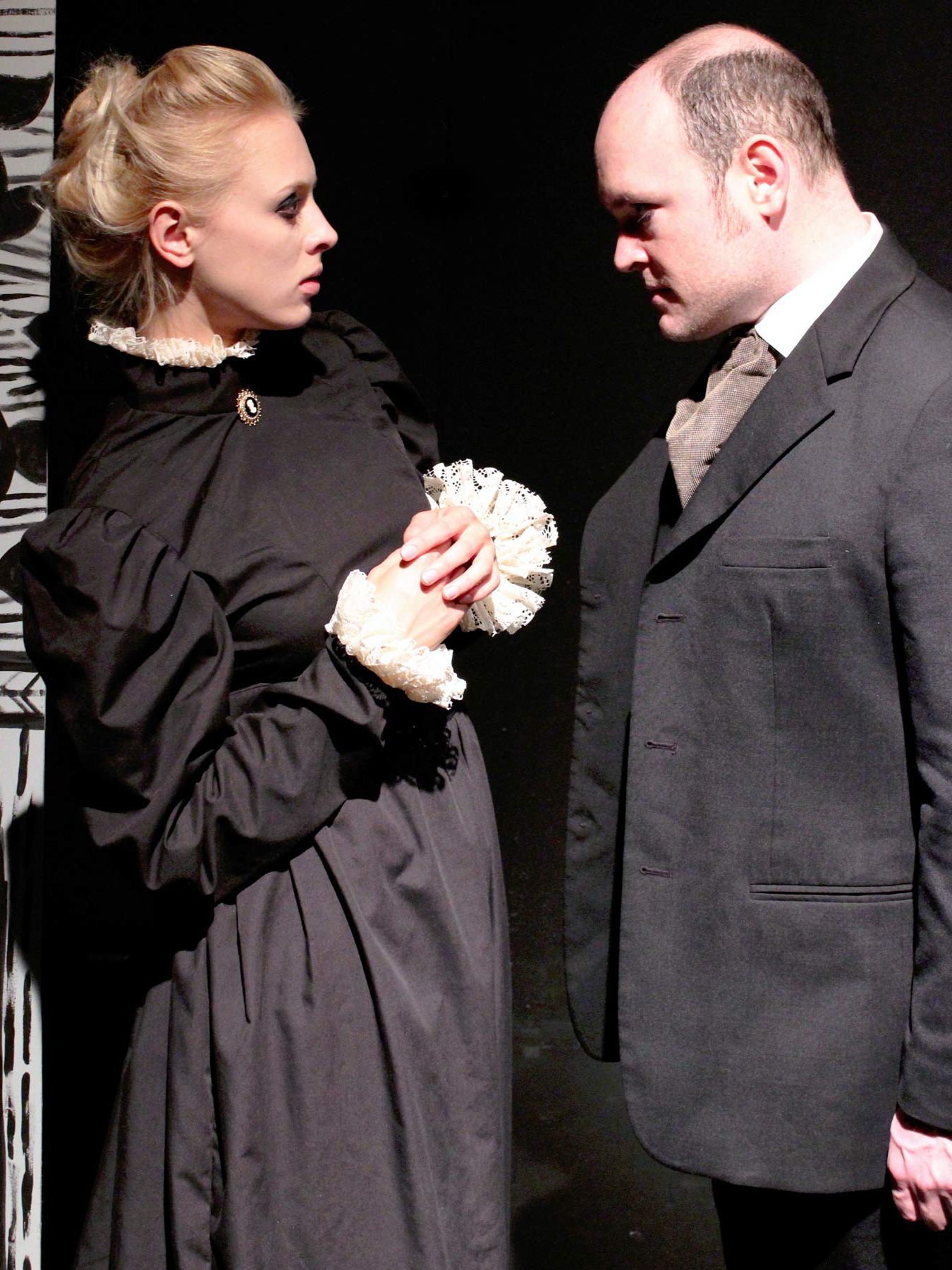 Amelia Gotham and Nich Kauffman in Henry James Turn of the Screw