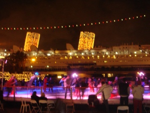 Queen Mary Ice Skating at Chill