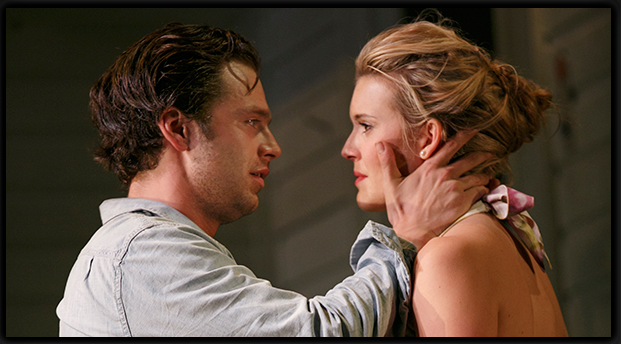 Sebastian Stan and Maggie Grace in Picnic at The Roundabout Theatre Company