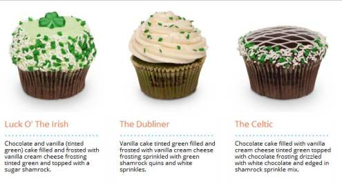 Crumbs St. Patrick's Day cupcakes