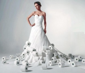 Ninth Annual Cheap Chic Weddings Toilet Paper Wedding