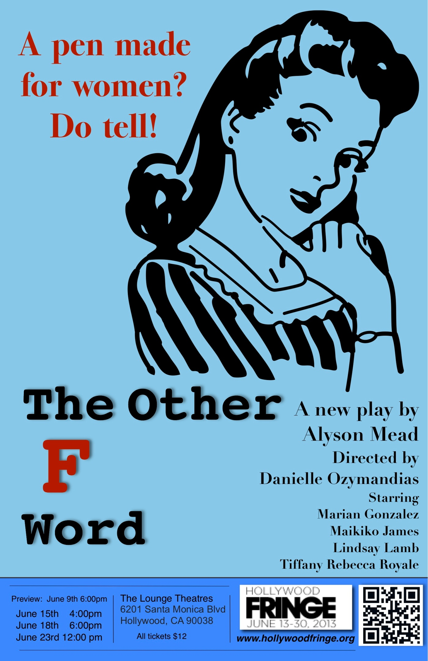 The Other F word, Gia, Gia On The Move, theatre, reviews, theater, women, marketing