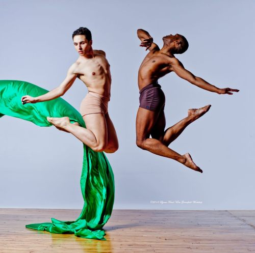Aaron Atkins (director/choreographer ) and Edgar L. Peterson III.     Photo by by Carolyn Brady/Lois Greenfield Workshop 2013