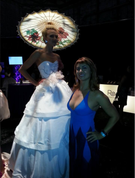 For the record, Gia (me) wearing my favorite NYC designer Cesar Galindo at LAFW