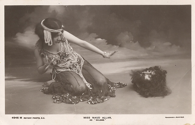 Maud Allan as Salomé with the head of John the Baptist in an early adaptation of Wilde's play
