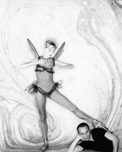 Tanaquil Le Clercq, circa George BalanchineÕs 1952 ballet Metamorphoses. Pictured: Le Clercq and Balanchine