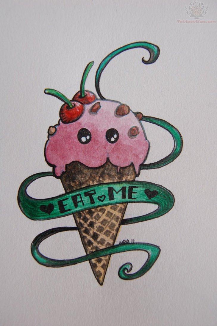 eat me ice cream tattoo graffiti