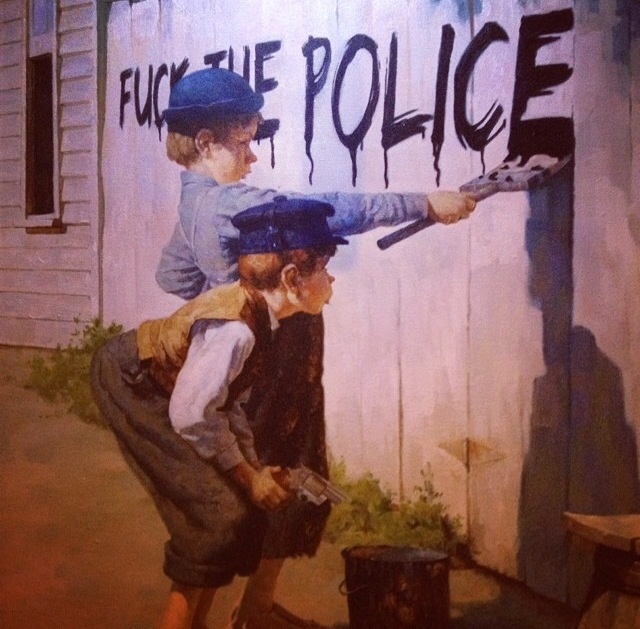 graffiti fuck the police