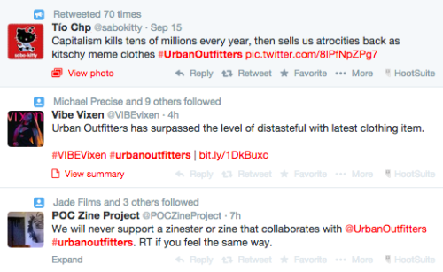 Urban Outfitters Twitter backlash