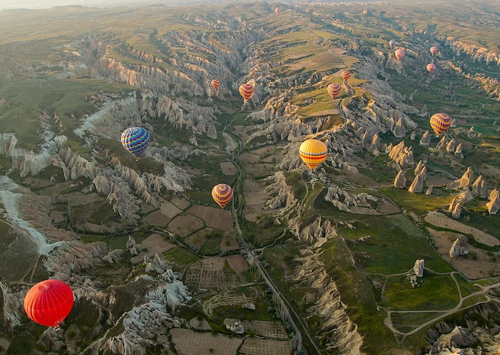Fly in a Hot Air Balloon Over Cappadocia, Turkey