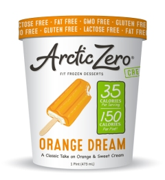 arctic zero orange dream ice cream low glycemic