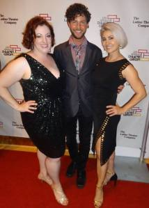 Rebecca Metz, Marc Wheeler, Tracey Paleo (Gia On The Move) at the First Annual Stage Raw Los Angeles Theatre Awards
