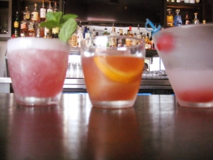 Detour Bistro Bar Cocktails (in order) Summer Splash, Honey Old Fashion, Diablo