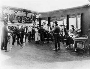 A silent film crew at Universal Studios. (PRNewsFoto/Universal Pictures)