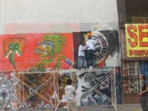 Pinta Blvd 5 de Mayo Graffiti puebla