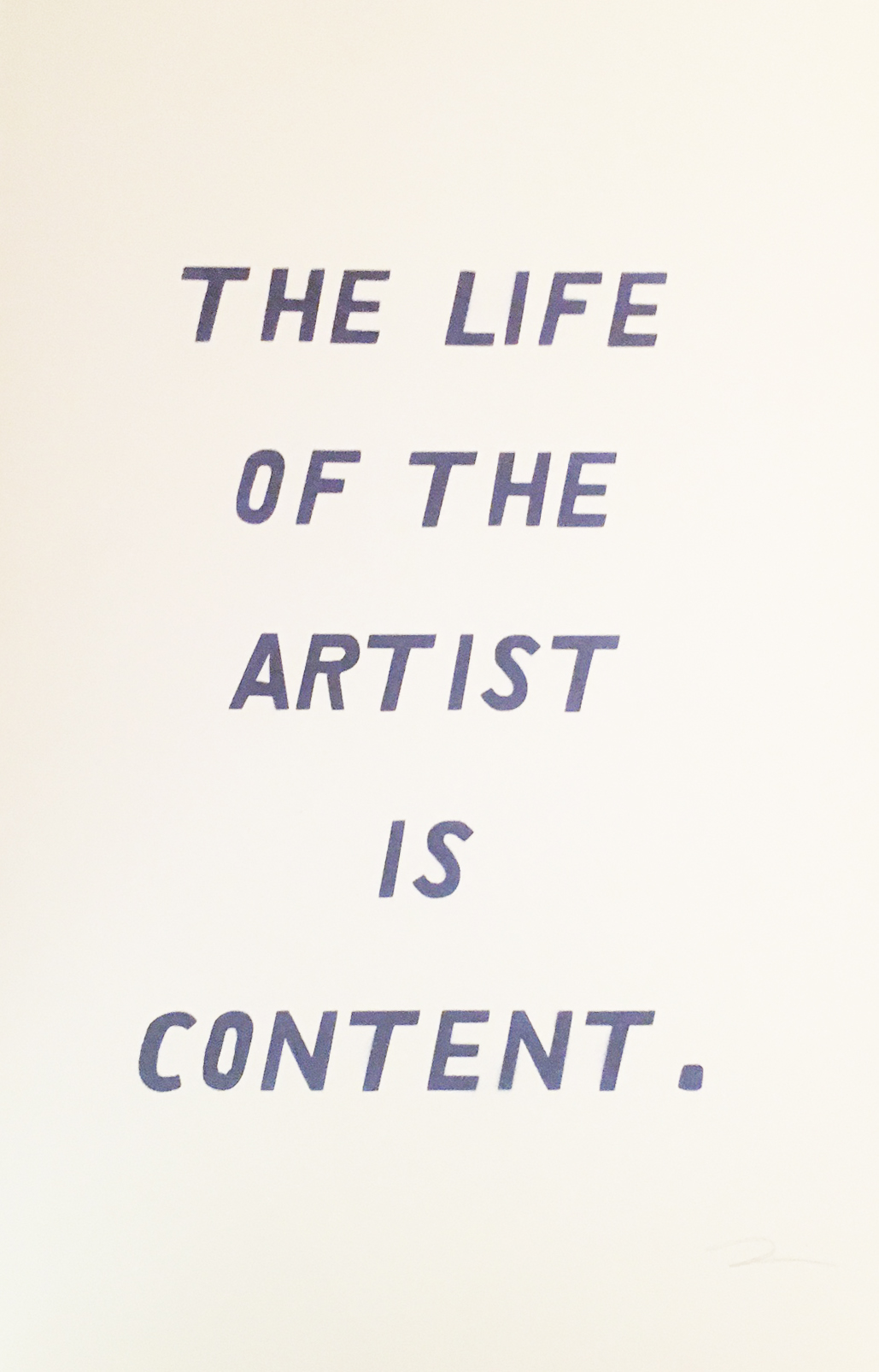 The Life of the Artist is Content
