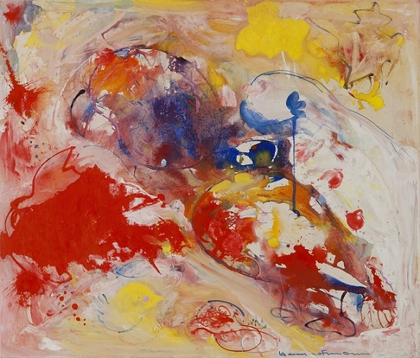 Out of This World, 1945 by Hans Hofmann. Collection of the Patricia & Phillip Frost Art Museum FIU. Gift of Dr. Paul Lambert Schmitz.