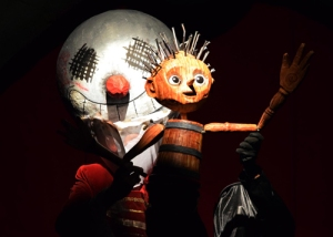wood boy dog fish pinocchio marc wheeler, theatre reviews