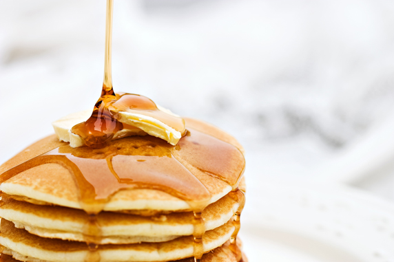 maple syrup pancakes