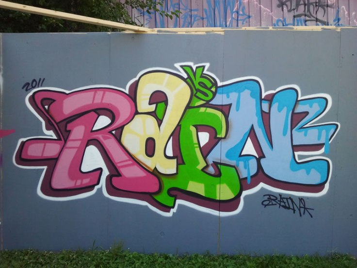 rain graffiti