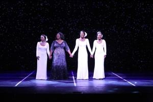 "Brittney Johnson, Moya Angela, Jasmin Richardson and Danielle Truitt in ""Dreamgirls"" at La Mirada reviews musicals marc wheeler"