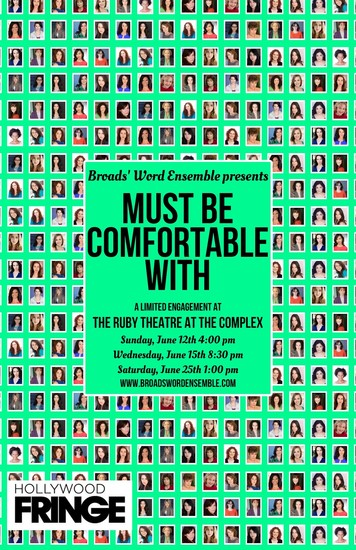 must be comfortable with broads world ensemble hollywood fringe festival