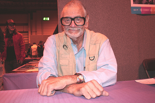 Horror Icon George A Romero attending a horror convention 2005