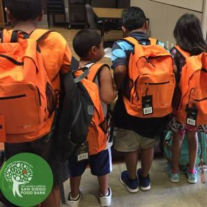 San Diego Food Bank's Food 4 Kids Backpack Program