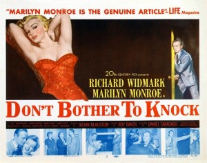 Poster - Don't Bother to Knock Marilyn Monroe