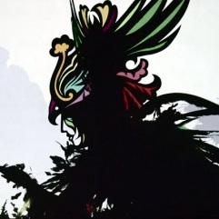 Feathers of Fire shadow puppetry