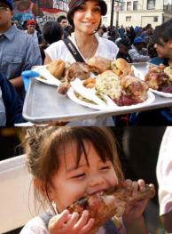 Thanksgiving Banquet on Skid Row Los Angeles Today – All Day!