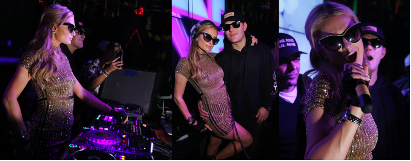 Paris Hilton at WALL Art Basel Miami