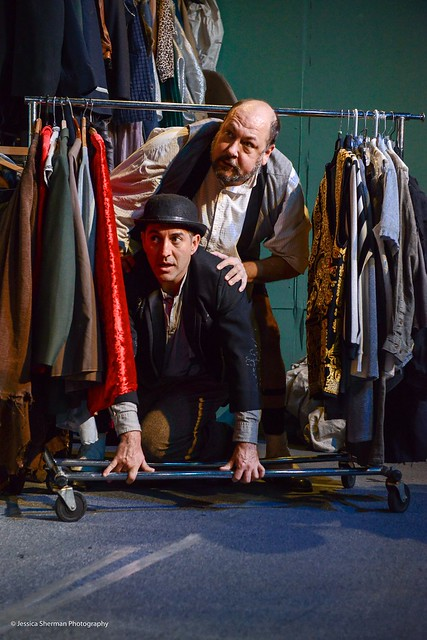 Gia On The Move, Matt Ritchey, Tracey Paleo, theater reviews, Waiting For Waiting For Godot, Sacred Fools